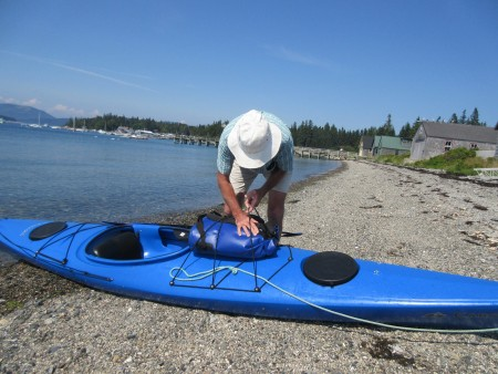 Packing the kayak