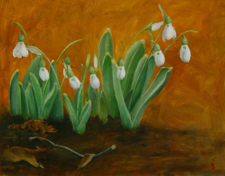 Snowdrops painting JCBright