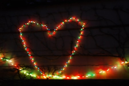valentine in lights